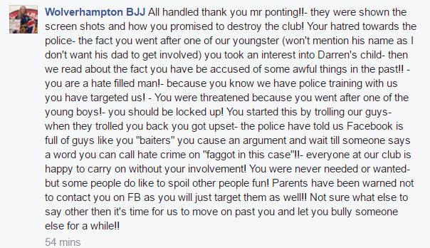 Wolverhampton BJJ Malicious Rumours