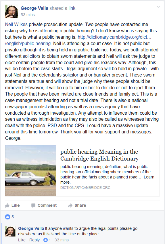 George Vella attempts to abuse of the UK Justice system